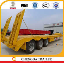 towing truck driving semi trailers lowbed container trailer for sale