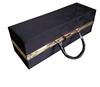 2015 Black Vinyl Paper Wrapped Wooden Wine Box