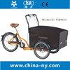 family pedal three wheel cargo Tricycle for sale