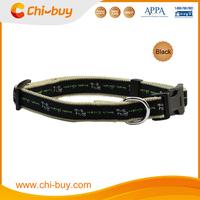 25~40cm Black Nylon Webbing Dog Collar LED Pet Collar