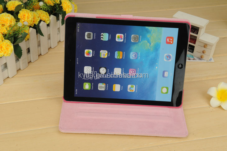 belt clip case smart wake up/sleep cover flip stand case cover for ipad 5 air