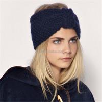 OEM Custom wholesale accessories for women or baby ear warm elastic winter crochet flower headband