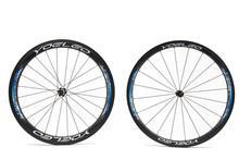 Ruedas de carbono T38 | 50 azul cerámica rodamientos Hubs tire directamente de fibra de carbono bicicleta