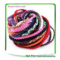 Hot selling high quality braided korea vlevet thread for jewelry making necklace bracelt DIY thread