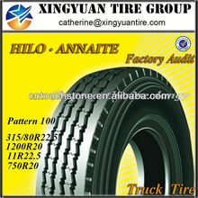 2014 Hot Sale 1000R20 1100R20 1200R20 HILO Radial Truck Tyre