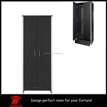 Cheap Trending Black Clothes Closet Modern Wardrobe Furniture for Sale