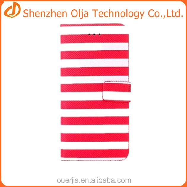Красочные полосы бумажник обложка чехол для iphone 6, для iphone 6 мобильных аксессуаров