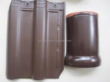interlock gray color clay roof tiles 300x400mm