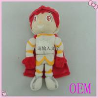 Cute Handmade Superman Stuffed Plush Finger puppet Doll