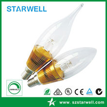 Special exported 3w led candle lights plastic