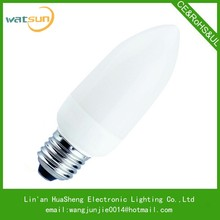 ROHS/CE/SASO cfl light bulb with price CFL candle