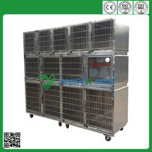 2015 YSVET0510 Hot sale modular strong stainless steel dog cage
