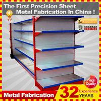cold roll sheet gondola supermarket shelf with custom service