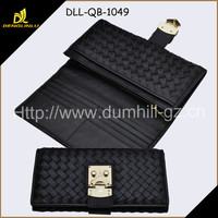 Black color RFID Blocking PU Lady Wallet PU purse