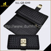 Black color high quality fashion design lady pu leather wallet,woven bag, kniting leather wallet