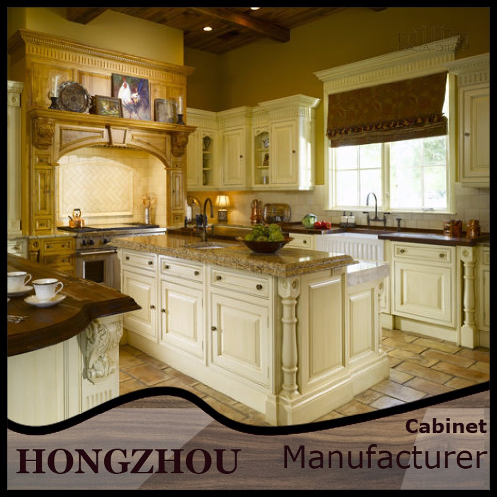 China solid wood kitchen cabinets with luxury islands for China kitchen cabinets manufacturers