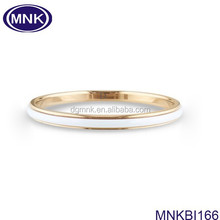 Buy stainless steel jewelry white and 18k gold slogan bangle