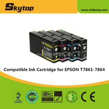 Chinese Supplier compatible ink cartridge for Epson T7864 Yellow dye ink with chip