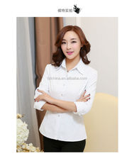 Women's clothing white long-sleeved shirt shirt render unlined upper garment of qiu dong han edition cultivate one's morality bi