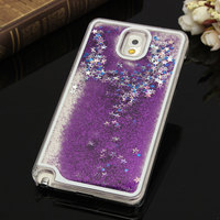 Dynamic Liquid Quicksand Glitter Bling Stars Liquid Novel Clear Phone Case Cover For Samsung Galaxy S4 S5 S6 Note 3 4