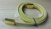 High Quality Flat Braid Net Golden Standard HDMI Transmit Cable