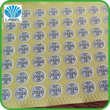 factory price custom adhesive round paper qc pass label sticker printing with high quality
