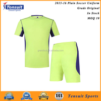 Short sleeve custom team sublimated soccer jersey with factory price