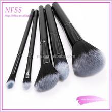 New style brush 5pcs fade hair cosmetic makeup brush set factory supply neck brush