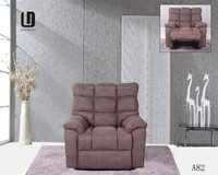 Heated fabric recliner/reclining single seater sofa chairs #A82