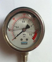 High quality oil filled bottom mounting Pressure Gauge