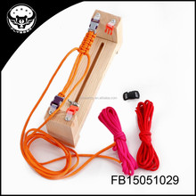 DIY paracord bracelet with wooden tool survival bracelet kit