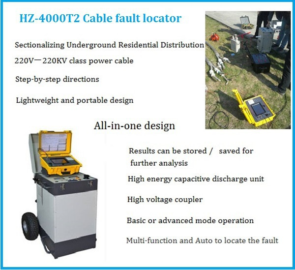 Cable Fault Locator Manufacturers : Hz t cable testing equipment high voltage underground