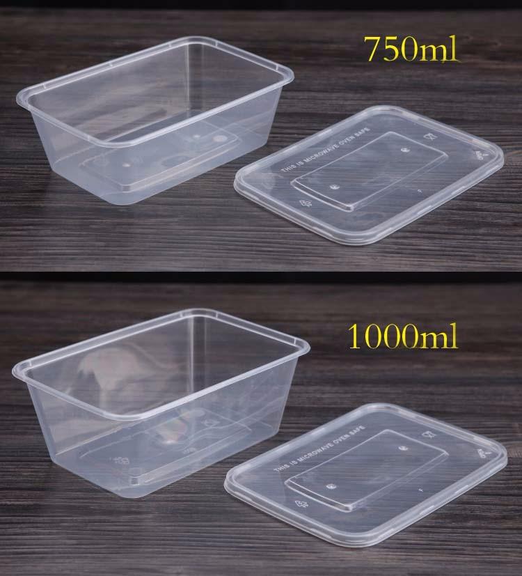 en plastique alimentaire conteneur de stockage avec couvercle bo tes caisses de rangement id. Black Bedroom Furniture Sets. Home Design Ideas