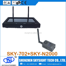 Sky-N2000 5.8ghz fpv video transmit +SKY-702 LCD diversity receiver with foldable sunshade cover for skyzone fpv goggles