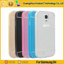 wholesale price aluminum frame metal bumper case for samsung galaxy s4