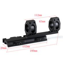 25.4mm/30mm Weaver Picatinny Rail Rings Telescopic Sights Quick Release Gun Mount