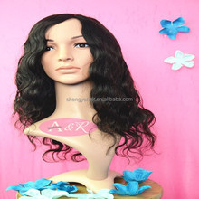 Factory Price Black Color Human Wigs Caps Natural looking Brazilian Human Hair Wig