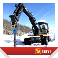 BEIYI drilling equipment mini excavator auger post hole digger auger drill