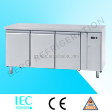 Stainless steel food refrigerated bar counter freezer refrigerator