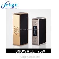 Ucige authentic vaporizer snow wolf mini 75w onsale new temp control vv/vw e cig mini snow wolf 75w