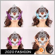 Halloween crown two color printed masquerade mardi gras mask