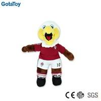 Custom made stuffed toy eagle football player plush toy