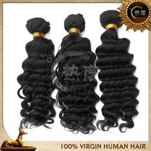 Queen like brazilian hair tangle free deep wave 20 inch virgin remy human hair weft
