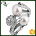 Projeto de cristal único nunca desaparecer anel de platina anel de cristal de cristal 10 ano do aniversário de casamento anel