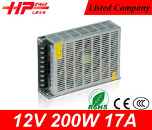 Guangzhou top supplier new universal CE RoHS approved constant voltage single output 200w 12v 17 ampere power supply module
