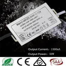 DC36V output voltage 50W constant current 1500ma IP67 waterproof led driver for outdoor led light
