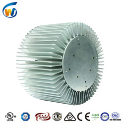 2016 new design aluminum extrusion cylindrical heat sink for led high bay light 200 watt