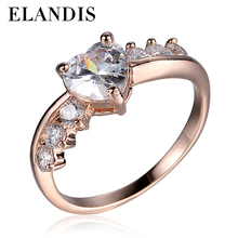 Trendy Jewelry with Rhodium Plated Women's Zircon Ring Micro pave CZ silver rings