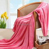 middle eastern home plain double bed pink coral fleece blanket and textile