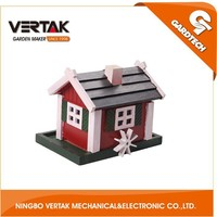 Professional garden supplier cheap wood craft bird house with low price